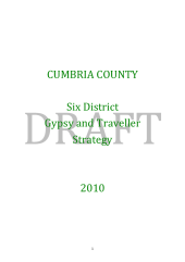 CUMBRIA COUNTY Six District Gypsy and Traveller Strategy 2010