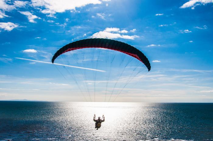 A hang-glider