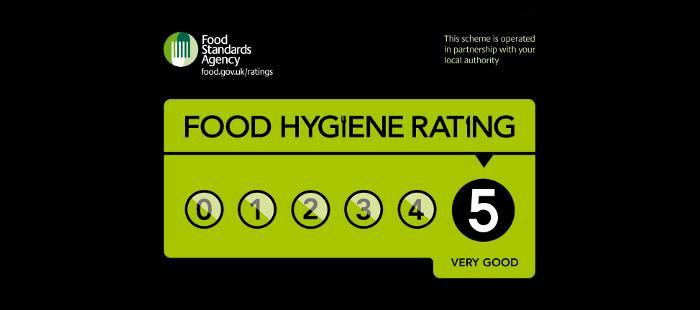 Food hygiene rating of five