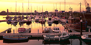Whitehaven Marina at Sunset